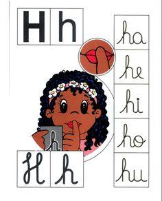 Alfabeto+colorido+h. Alphabet Games, Apraxia, Learning Goals, Phonological Awareness, Teaching Spanish, Spanish Class, English Words, Cursive, Fine Motor Skills