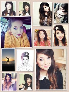 A collage I made of the lovely Zoe Sugg
