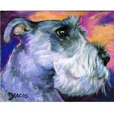 Schnauzer profile Dog Art Signed 8x10 Print of by DottieDracos, $12.00 | etsy.com