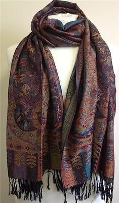 Lagenlook Accessories Large MIDNIGHT SHADES Multi Patterned Pashmina Style Scarf