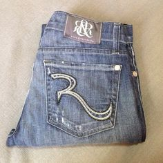 ROCK AND REPUBLIC jeans Distressed in a very cool way, straight cut, very soft. Inseam- 30. Rock & Republic Jeans