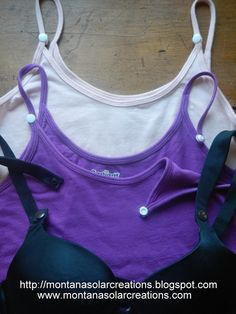 Save $ and convert your bra or tank top to a nursing bra or tank, using snaps.