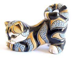 "Rinconada ""Blue Tabby Cat Stretching"" XL Figurine (SW012)   eBay"