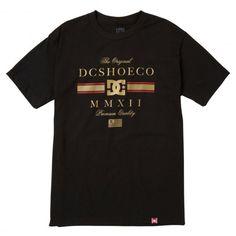 DC Shoes RD Lux Stripe tee-shirt Rob Dyrdek black 32€ #dc #dcshoe #dcshoes…