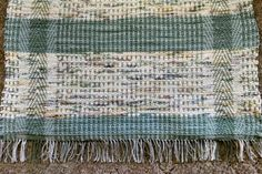 Handwoven rag rug multi colors recycled by BackPorchCountry