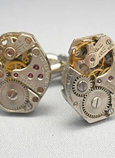 steam punk cufflinks <3