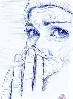 "Saatchi Online Artist: HB Graphik; Pen and Ink, Drawing "".colds time."""