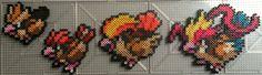 #016-#018 Pidgey Family - Pokemon perler beads by TehMorrison