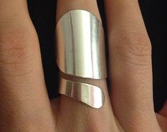 Sterling Silver Band Ring 7.5mm Hammered by CopperfoxGemsJewelry