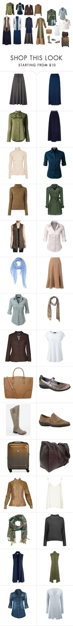 """Capsule wardrobe"" by wd1371 on Polyvore featuring Emporio Armani, Balmain, Delpozo, Acne Studios, LE3NO, Vanessa Bruno, WithChic, Ming Wang, Lands' End and Ralph Lauren Blue Label"