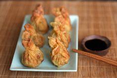 Son mis wonton favoritos: crujientes, rellenos de pollo al curry y con ese sabor característico tan oriental… son simplemente irresistibles...