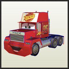 Disney Pixar: Cars - Mack Free Papercraft Download - http://www.papercraftsquare.com/disney-pixar-cars-mack-free-papercraft-download.html
