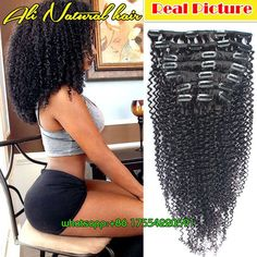 African American Clip in Human Hair Extensions 4b 4c Afro Kinky Curly Clip in Hair Extensions Brazilian Virgin Hair Clip ins, View kinky curly clip in hair extensions, Ali Natural Product Details from Qingdao on Alibaba.com
