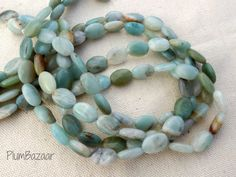 Stone beads lovely soft ocean colors by PlumBazaar Ocean Colors, Stone Beads, Aqua, Beaded Necklace, Trending Outfits, Unique Jewelry, Handmade Gifts, Vintage, Etsy
