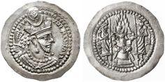 Ancient Coins - Varhran V AR Drachm, (Bahram Gur) AR Drachm, FDC, see notes, 420…