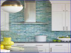 Turquoise Blue White Beach Theme Kitchen Sea Gl Tile Backsplash Coastal And Ideas