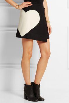 MSGM|Wool-blend wrap mini skirt
