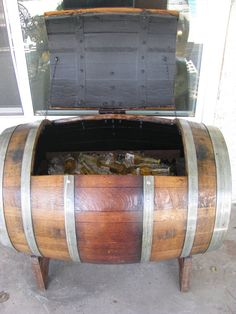 Fallen Oak S Barrel Ice Chest Wine Barrel Furniture