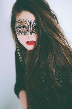 Lauren Anna Mills. LA Photography, Mansfield, Oh. Cherokee Indian face paint self portrait.