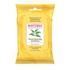 Facial Cleansing Towelettes with White Tea Extract- 10 Count - Burt's Bees