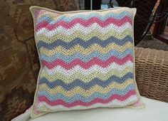 Ravelry: Tinkhickman's Stripy Wave Cushion