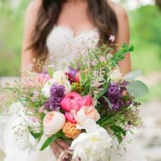 Bouquets  peonies lush wildflower bouquet