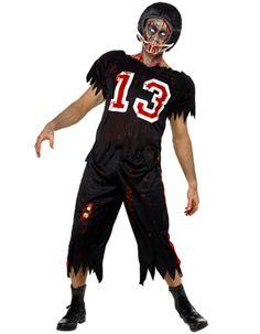 Zombie American Footballer Costume