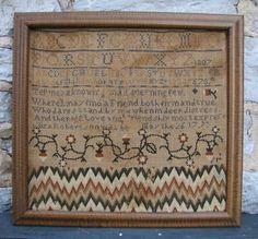 1807 Flame Stitch Sampler.