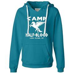 Womens Camp Half-Blood Deluxe Soft Hoodie (48 CAD) ❤ liked on Polyvore featuring tops, hoodies, percy jackson, sweaters, sweatshirts, blue top, hooded sweatshirt, blue hoodie, sweatshirt hoodies and blue hooded sweatshirt