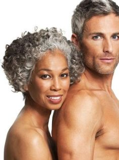 Sexy silver hair for Wen Black Woman White Man, Black Love, Black Is Beautiful, Mixed Couples, Couples In Love, Silver Haired Beauties, Lab, Interracial Couples, Biracial Couples