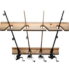 This Vertical Fishing Rod Storage Rack gives you a great way to store your expensive fishing rods in the garage or shed.