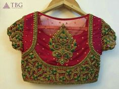 15 Latest Heavy Designer Saree Blouse Designs Heavy designer blouses are appropriate when you are going for a party, wedding or major function. This heavy designer blouses can be paired with sarees or lehengas. Here in this post, we are talkin… Blouse Designs Catalogue, Best Blouse Designs, Blouse Neck Designs, Blouse Patterns, South Indian Blouse Designs, Wedding Saree Blouse Designs, Pattu Saree Blouse Designs, Saris, Henna Designs