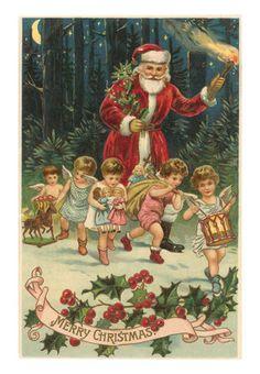 A Victorian Christmas postcard