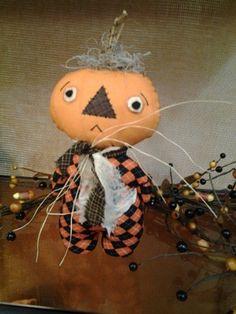 Pumpkin Stumpkin #510jk12 These are ready to ship. thks happy heart pattern