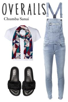 """""""Untitled #108"""" by chumbasanai ❤ liked on Polyvore featuring Diesel, RE/DONE, Puma, TrickyTrend and overalls"""