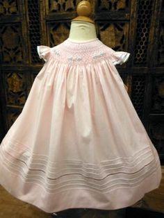 Will/'beth Newborn Infant Baby Girl Smocked White Bonnet Pearls Easter NWT 0-3m
