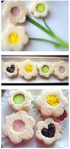 Afternooon tea inspiration is a great way to celebrate Shavuot - flour shaped sandwiches are genius. Tea Sandwich Ideas / Home Cooking in Montana Tea Party Sandwiches, Finger Sandwiches, Afternoon Tea Parties, Snacks Für Party, My Tea, Tea Recipes, Cute Food, Finger Foods, Kids Meals