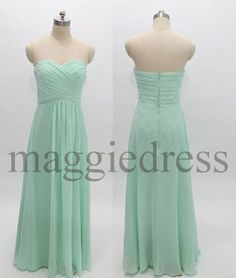Custom Mint Long Bridesmaid Dresses 2014 Prom Dresess Evening Gowns Formal Party Dresess Homecoming Dresses Party Dress Cheap Dresses