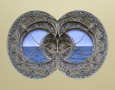 Artist Eric Standley creates incredibly intricate stained glass window sculptures out of laser cut paper. Composed of hundreds of layers of colored paper, 3d Paper Art, Paper Artwork, Paper Artist, Paper Crafts, Stained Glass Art, Stained Glass Windows, Paper Cutting, L'art Du Vitrail, Architecture Artists