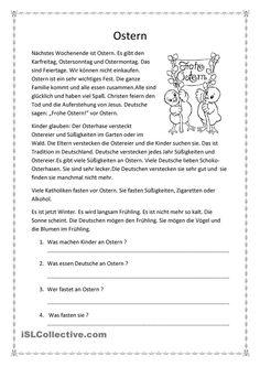 Ostern- allg. Text mit arabischen Übersetzungen für Vokabeln