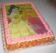 Princess Belle Beauty and the Beast Sheet Cake