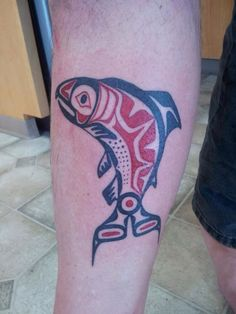 Alaskan salmon Tattoo
