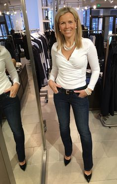 The perfect fit: More&More shirt and Mac jeans