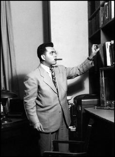 Jack Kirby doing a little research for a story.