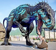 Jurassic World Hybrid, Jurassic Park 3, Blue Jurassic World, Prehistoric Wildlife, Prehistoric World, Prehistoric Creatures, Michael Crichton, Dinosaur Time, Dinosaur Art
