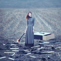 Oprisco shoots using old-school film photography. The fact that he shoots with film means that everything you see in these photos had to be created that way – it couldn't be done digitally.