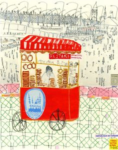 Eminonu trolley seller Istanbul, Claire Caulfield