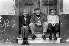 Having out on the stoop with friends