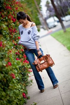 Smiley Sweater + Mulberry Alexa  Love this outfit! Minus mulberry - I don't have mulberry money!