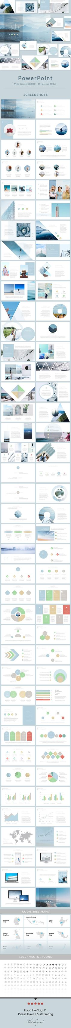 Light - PowerPoint Presentation Template - Business PowerPoint Templates